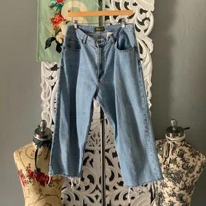 Eddie Bauer   vintage raw hem boyfriend jeans 14